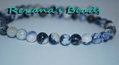 'Sodalite 8mm Round Beads- 16 in strand' is going up for auction at  7pm Thu, Feb 28 with a starting bid of $5.