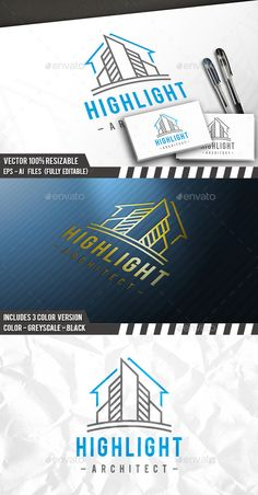 City Construction Logo by BossTwinsArt Package Three color version: Color, greyscale and single color. The logo is 100 resizable. You can change text and colors very ea Building Logo, Logo Design Template, Logo Templates, Construction Company Logo, City Logo, Architecture Logo, Real Estate Logo, Ideas, Logos