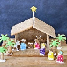 100 Best Gingerbread House Ideas Diy Nativity, Christmas Nativity, Christmas Holidays, Nativity Scenes, Merry Christmas, Christmas Activities, Christmas Traditions, Holiday Crafts, Holiday Fun