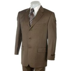 Three Button Suit ~ Mens 3 Button Suits Any Color Size Discount Prom Dresses, Strapless Prom Dresses, Prom Dresses For Teens, Prom Dresses Online, Cheap Prom Dresses, Brown Slacks, Brown Suits, Green Dress, White Dress