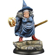 Smutty, boozy, amiable, as sharp as a drawerful of knives. Has an evil cat who sometimes forgets what shape he is. Nanny Ogg, Terry Pratchett Discworld, Cool Books, Wicked Witch, Miniature Figurines, War Machine, Fantasy Art, Elephant, Geek Stuff
