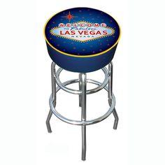 Trademark Commerce LV1000 Las Vegas Padded Bar Stool