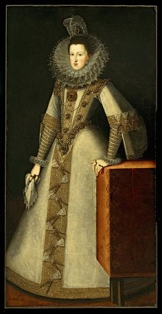 Juan Pantoja de la Cruz Painting Title: Margaret of Austria 1584-1611 Queen of Spain, 1605