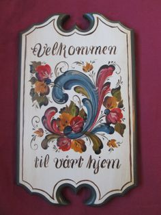 Norwegian Rosemaling in Telemark Style on a 15 by Folkartbycathy, $95.00