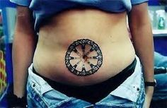 Decorous Tattoo On Belly