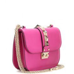 Valentino Lock Small Leather Shoulder Bag ($1,900) via Polyvore