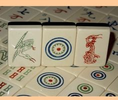 1920s Pung Chow Two Toned Ivory Black mAh Jong Set with 152 Tiles Wonderful | eBay