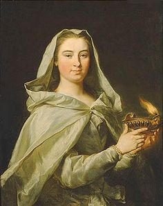 Pagan Reveries Wordpress - Hestia, The Queen of Fire Part 2 (Image: Portrait of Charlotta Sparre as a Vestal by Donatien Nonotte)