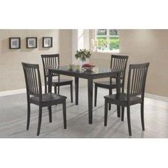 Cappuccino Wood 5-Piece Dining Set