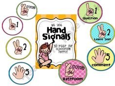 Hand Signals {to ease the pain of blurters in your room}