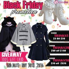 Double joy on Thanksgiving Day and Black Friday .  This time , we will giveaway 100$ store credit .  Total 2 winners  By the way, The Biggest Promotion Of The Year Begins  .  Codes : Thanks5 : 5$ off 50$ Thanks20 : 20$ off 120$ Thanks50 : 50$ off 250$  How to win: 1. Follow @SpreePicky 2. Like and Repin this pic 3. Finish above and enter here: https://goo.gl/DwoJGS 4.Ends on Nov 30th, 2016