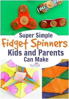 Fidget spinners are super-fun, but did you know you can make your own! Cardboard, paper and a few other materials will have some DIY fidget spinners in your hands in minutes! Enjoy this fun activity with your kids as you learn how to make your very own version of a fidget spinner.