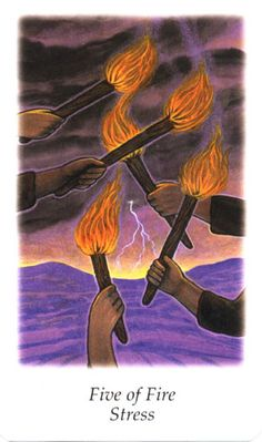 Vision Quest Tarot ► Five of Fire Stress