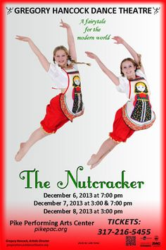 Dance Performances and Season Info - Gregory Hancock Dance Theatre   Carmel, Indiana. The Nutcracker- A Fairytale for the modern world