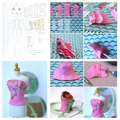 Blythe Doll Corset Picture Tutorial - make Barbie-size.
