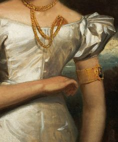 Henry Inman. Detail from Portrait of Clara Fisher, 1828.
