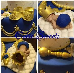 Royal Prince baby shower cake details,    cake by Cakie Sweets. Check out our other creations at CakieSweets.weebly.com
