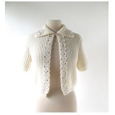 1950s rhinestones and beaded cardigan, from Debutante by Wooltex