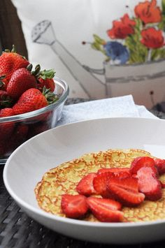 How to make crepes. Strawberry crepes for breakfast. How to make crepes. Strawberry crepes for breakfast. Clean Diet, Clean Eating, Crepe Recipes, Dessert Recipes, Strawberry Crepes, How To Make Crepe, French Crepes, Milk And Eggs, French Food