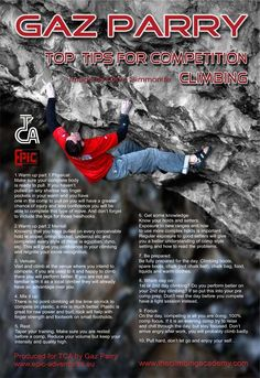 Gaz Parry interview and top tips for competition climbing