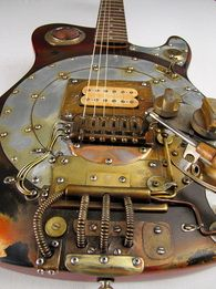 way cool steam punk style guitar