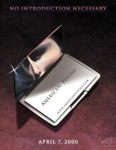 In american psycho the opening titles have the same font and in american psycho the opening titles have the same font and colour as paul allens business card cinema and television pinterest american psycho reheart Gallery