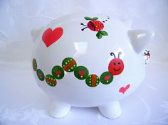 Personalized piggy banks piggy bank painted piggy bank