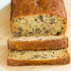 Zucchini-Banana Bread from Brown Eyed Baker: Tried and True. D said he thinks it's better than regular banana bread