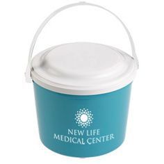 Bury them in brand recognition with this logo'd beach pail!