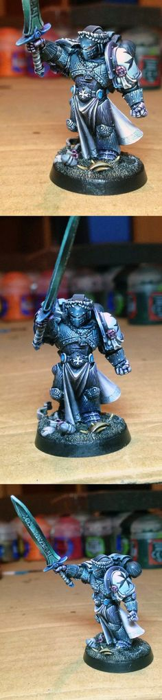 Look closely at the armour on this Emperor's Champion #BlackTemplar #SpaceMarine