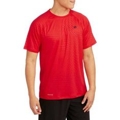 Russell Big Men's Embossed Mesh Active Tee, Size: 3XL, Red