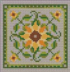 Sunflower Counted Cross Stitch