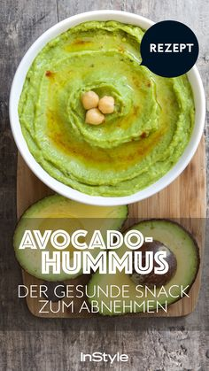 Avocado Hummus: The healthy weight loss snack in your diet – here's the recipe! – Hummus – Avocado Hummus: The healthy weight loss snack in your diet – here's the recipe! Avocado Hummus, Avocado Toast, Avocado Food, Avocado Butter, Healthy Meal Prep, Healthy Nutrition, Healthy Dinner Recipes, Healthy Snacks, Healthy Eating