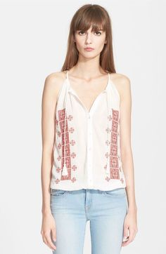 8109b0fc3 NWT Joie 039 Danelle C 039 Embroidered Cotton Top Sz L A078