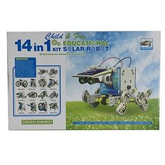 Electronictechcrafts 14in-1 Solar Robot DIY Solar Robot Kit Educational Solar Robot Build Your Own Robot