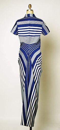 polyester dress by Comme des Garçons, 1990s. Metropolitan Museum of Art, New York