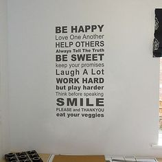 rules of the house wall sticker by nutmeg | notonthehighstreet.com