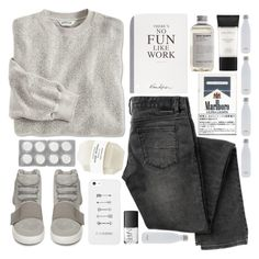 """No Fun Like Work"" by ladyvalkyrie ❤ liked on Polyvore featuring mode, adidas, LG, Smashbox, Aesop, NARS Cosmetics en S'well"