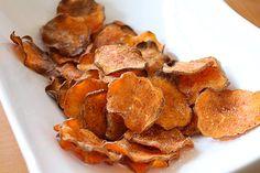 Seasoned Baked Sweet Potato Chips..