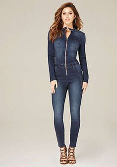 5c24a1cc5c Stretch Denim Catsuit