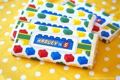 Customised wrapped chocolates - great idea!