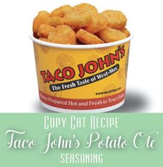 Taco John's Potato Ole Seasoning | Copy Cat Recipe for their secret weapon on the tater tots.