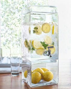 Great way to display your refreshing drinks for summer!