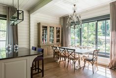 Деревянный дом в коттеджном поселке | Дома из клееного бруса | Журнал «Деревянные дома»