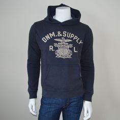 Denim & Supply by Ralph Lauren Eagle Mens Pullover Graphic Hoodie Large #DenimSupplyRalphLauren #Hoodie