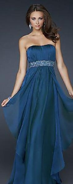 Elegant Long Sleeveless Strapless A-Line Natural Prom Dress In Stock tkzdresses10927verwe #longdress #promdress