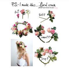 Flower wreath crown