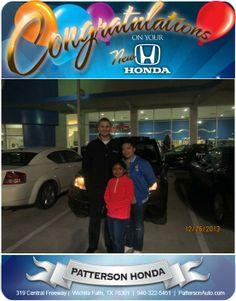 Congratulations to Monica Marin on her new 2009 Honda CRV! - From Casey Svatek at Patterson Honda