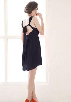 Blue Sleeveless Backless Bead Party Dress
