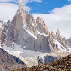 Location: Cerro Torre - Parque Nacional de Los Glaciares, Patagonia, Argentina.  Photo Credit: @slcbikergirl & @jonathanduncanphoto